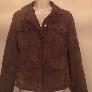 Great Northwest Brown Suede Leather Jacket - S